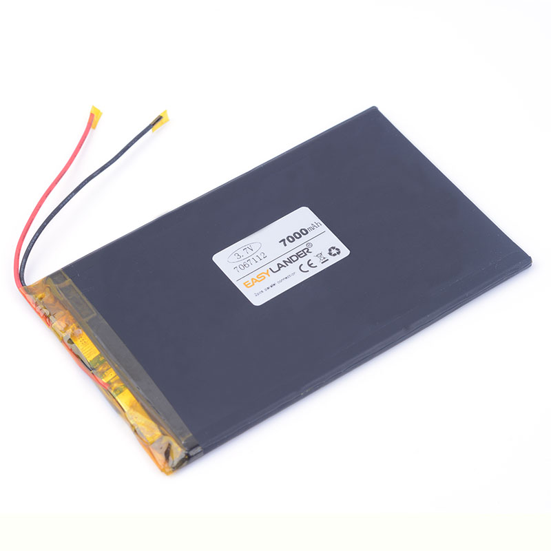 3.7V 7000mAH 7067112 7067113 Polymer lithium ion battery Li-ion battery for POWER BANK tablet pc ainol ampe DVD Bluetooth audio