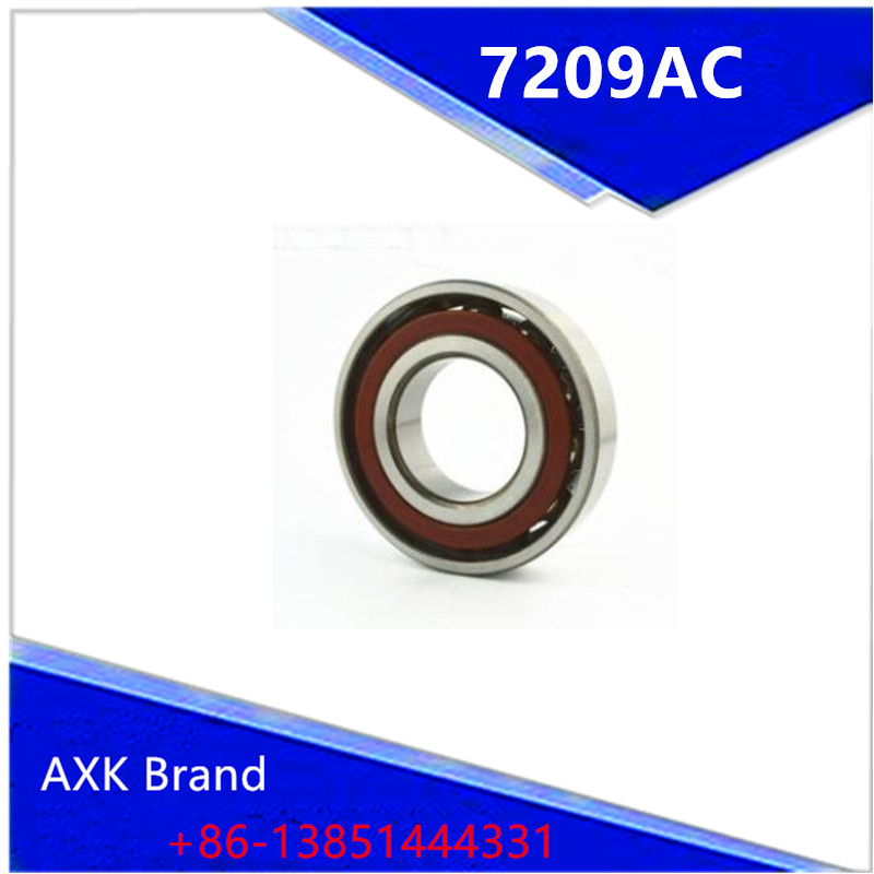 1pcs AXK 7209 7209AC 7209AC/P6 45x85x19 Angular Contact Bearings ABEC-3 Bearing 1pcs 71901 71901cd p4 7901 12x24x6 mochu thin walled miniature angular contact bearings speed spindle bearings cnc abec 7