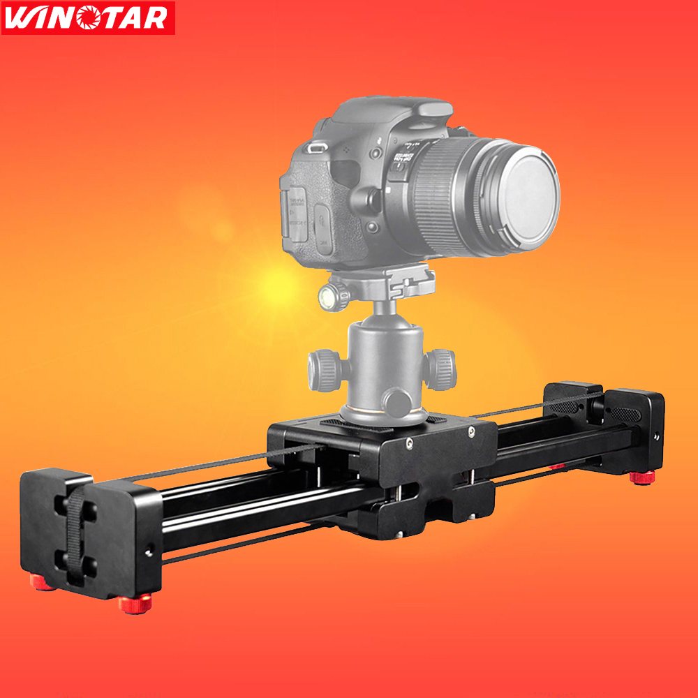 DSLR Camera Compact Retractable Track Dolly Slider 50cm Rail Shooting Video Stabilizer 100cm Actual Sliding Distance