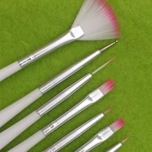 7pcs Set DIY Professional Nail Art Brush Design Painting Tool Pen Polish Brush Set Gel UV