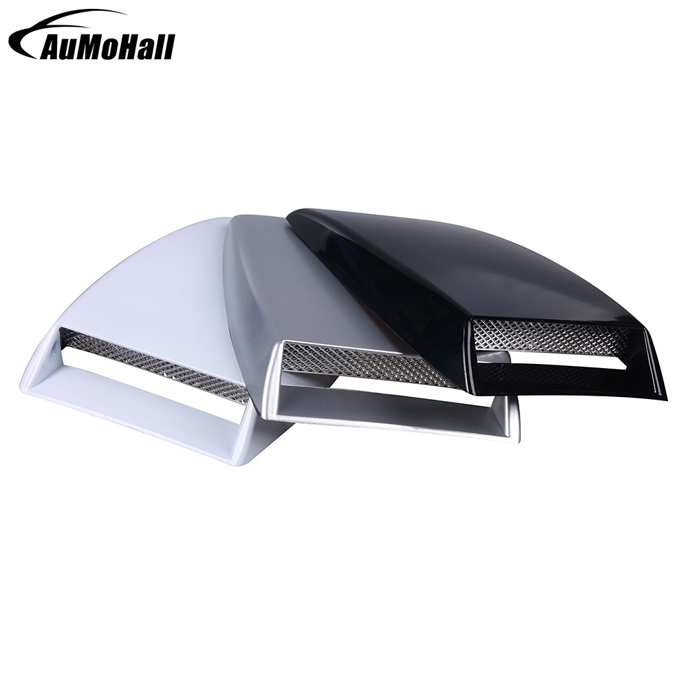 Universal Auto Air Flow Vent Sticker Black/Silver and White 3 Colors Car Cell Air Flow Intake Hood Scoop Bonnet Decoration Cover 2017 air flow intake hood scoop vent bonnet cover car stickers for alfa romeo disco volante giulietta gt gtv mito spider