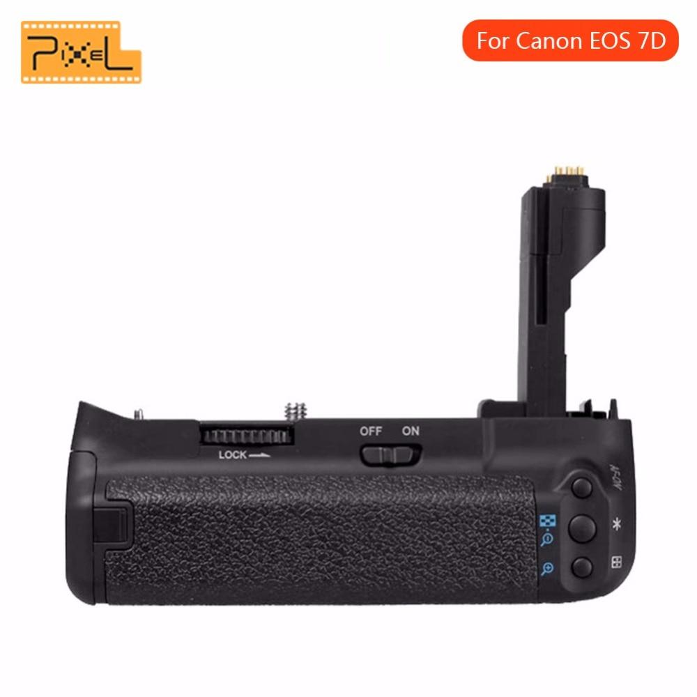 Pixel Vertax E7 poignée de batterie verticale pour Canon 7D DSLR appareil photo travailler avec LP-E6 BG-E7 de remplacement de batterie