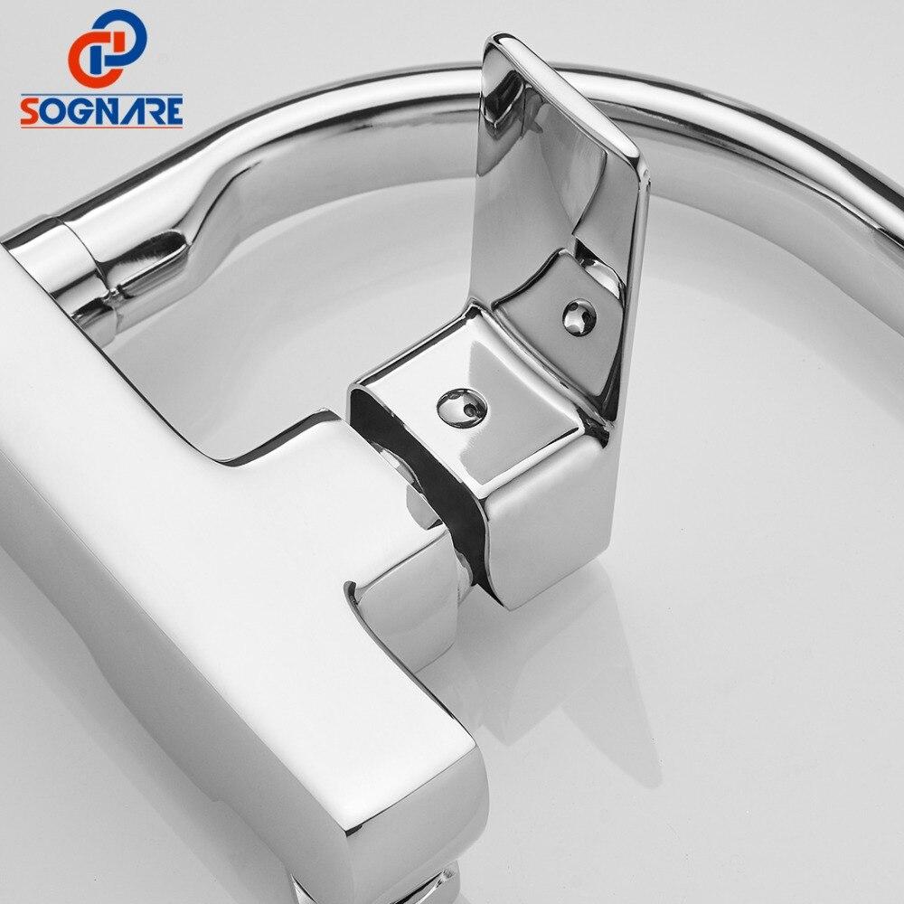 SOGNARE robinet de cuisine mural mitigeur de cuisine robinets double trous robinet d'eau chaude et froide Rotation 360 degrés D2203 - 4