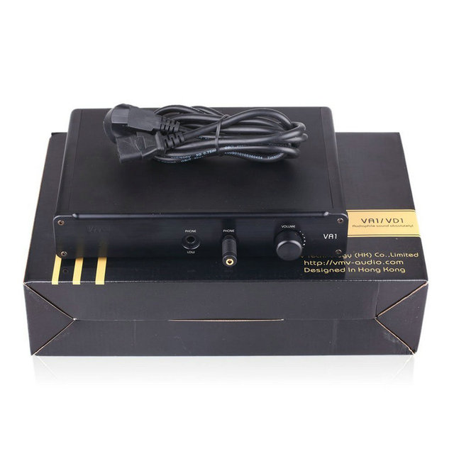 SMSL VA1-HD HI-FI Power Audio Amplifier Desktop Headphone Amplifier 110V/220V Amplifier with Balanced Input For HD650 HD600 6