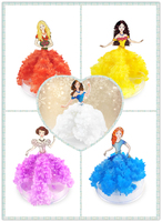 2018 11x8cm DIY Color Magic Growing Paper Dress Tree Kit Magical Grow Princess Trees Wunderbaum Science Toys For Children 5PCS