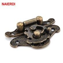 Антикварная бронзовая задвижка naierdi 1шт ювелирные замки для