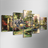 5Planes,Full Square 5D DIY Diamond Painting Fairy tale village,3d,Diamond Embroidery Cross Stitch,Mosaic,stickers,Christmas,art