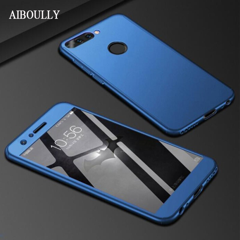 360 Degree Full Case For Huawei Honor 7c Pro 7cpro Cover Protective Shell On Huawei Honor7C 7 C AUM-L41 Case and Tempered Glass