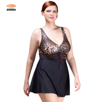New Sexy One Piece Swimsuit 2016 Vintage Plus Size Swimwear Women Strappy Beach Bodysuit Wild Leopard