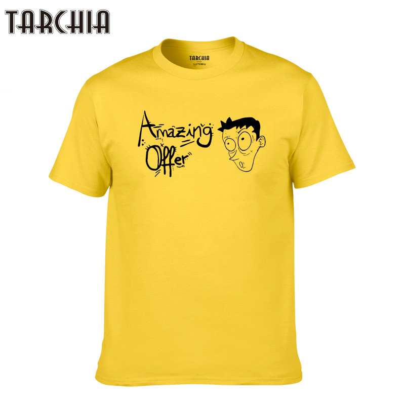 TARCHIA 2019 homme t shirt amazing offer expression tee plus number casual New men short sleeve t-shirt tops cotton tees boy