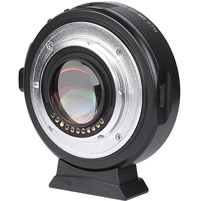 Viltrox EF-M2 AF messa a fuoco Automatica EXIF 0.71X Ridurre Speed Booster Adattatore Lenti Turbo per Canon EF lens per M43 Fotocamera GH4 GH5 GF6 GF1