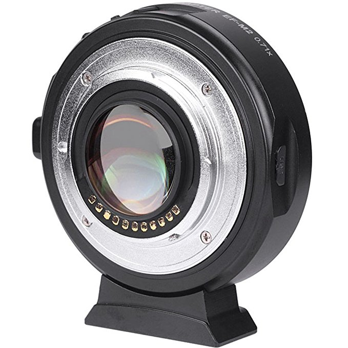 Viltrox EF-M2II AF Auto-focus EXIF 0.71X reducir velocidad Booster lente adaptador Turbo para Canon EF lente a M43 Cámara GH4 GH5 GF6 GF1