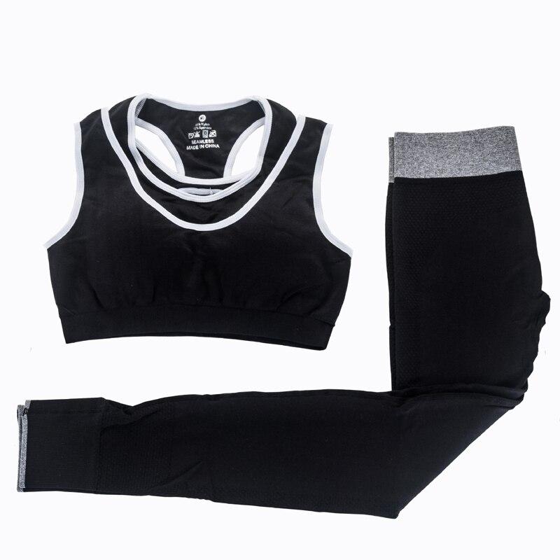 MAIJION 2Pcs Women Yoga Sets Fitness Sport Bra+Yoga Pants Leggings Set , Gym Running Sport Suit Set Workout Clothes for Female 1