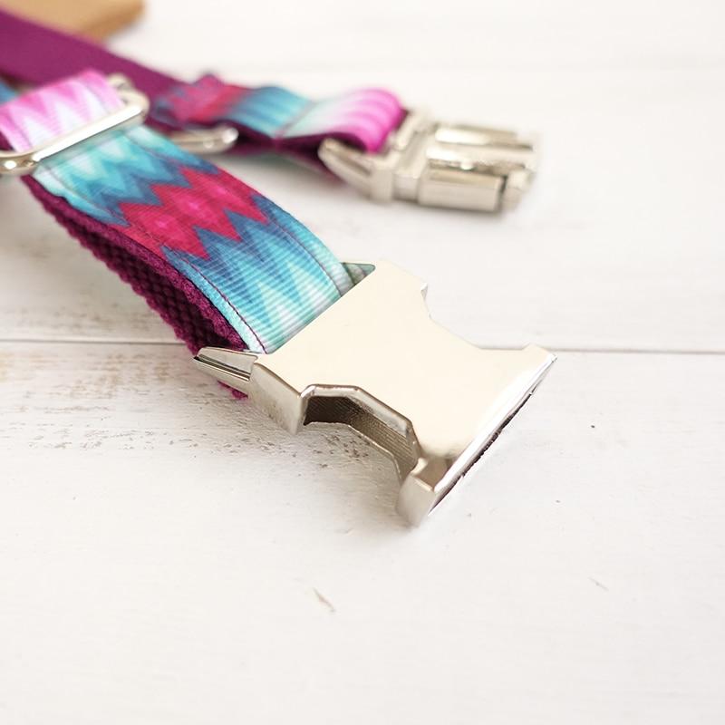MUTTCO ritel desain khusus diri anjing kerah PURPLE PEACOCK stripe 5 - Produk hewan peliharaan - Foto 5