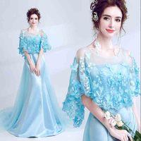 Plus Size 5XL Luxury Blue Party Mermaid Dress Women Red Carpet Wedding Bridal Evening Formal Dress For Lady Large Size 4XL 6XL