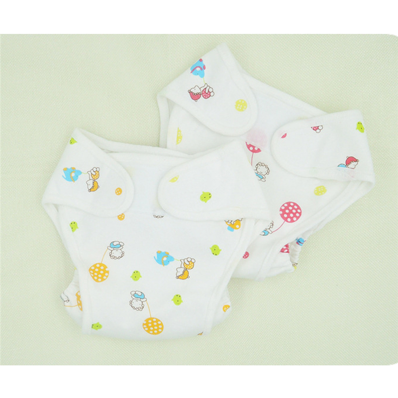 Cotton Baby Nappies Diaper Waterproof Newborn Infant Traning Panties Diapers Pocket Reusable Washable Cloth Diapers Nappy Cover