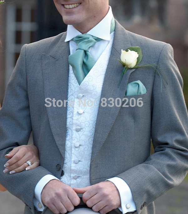 2015 New Grey Mens Tuxedo Suits Wedding Groom With Pants Wedding