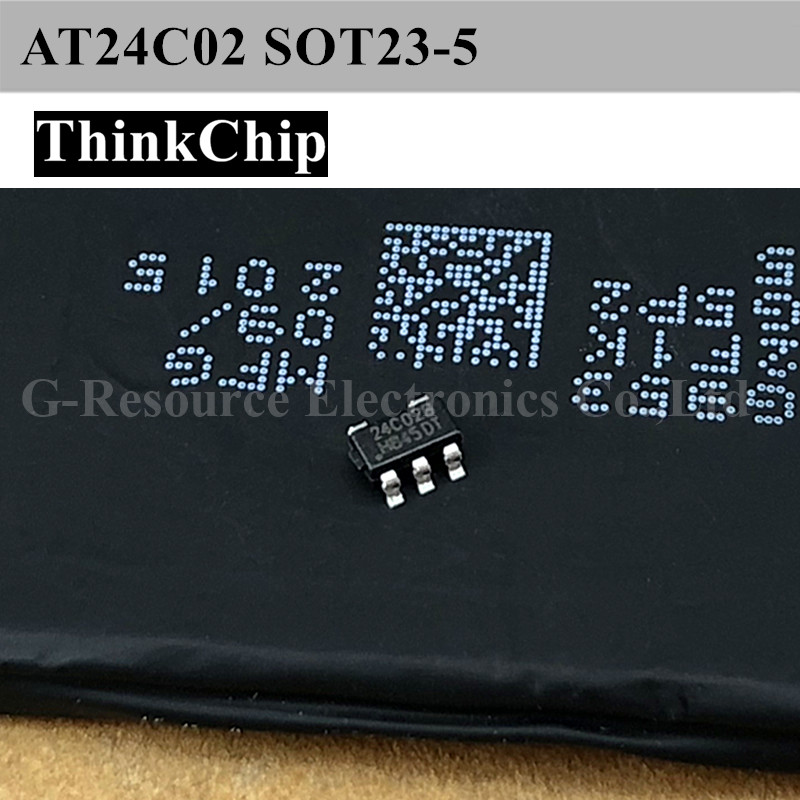 Free Shipping 100pcs/lot AT24C02 SOT23-5 EEPROM Memory New Original