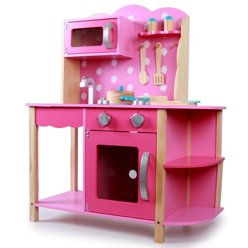Enfants Grand Simulé cuisinière maison Simulés ustensiles de cuisine en bois de Maternelle jouet costume