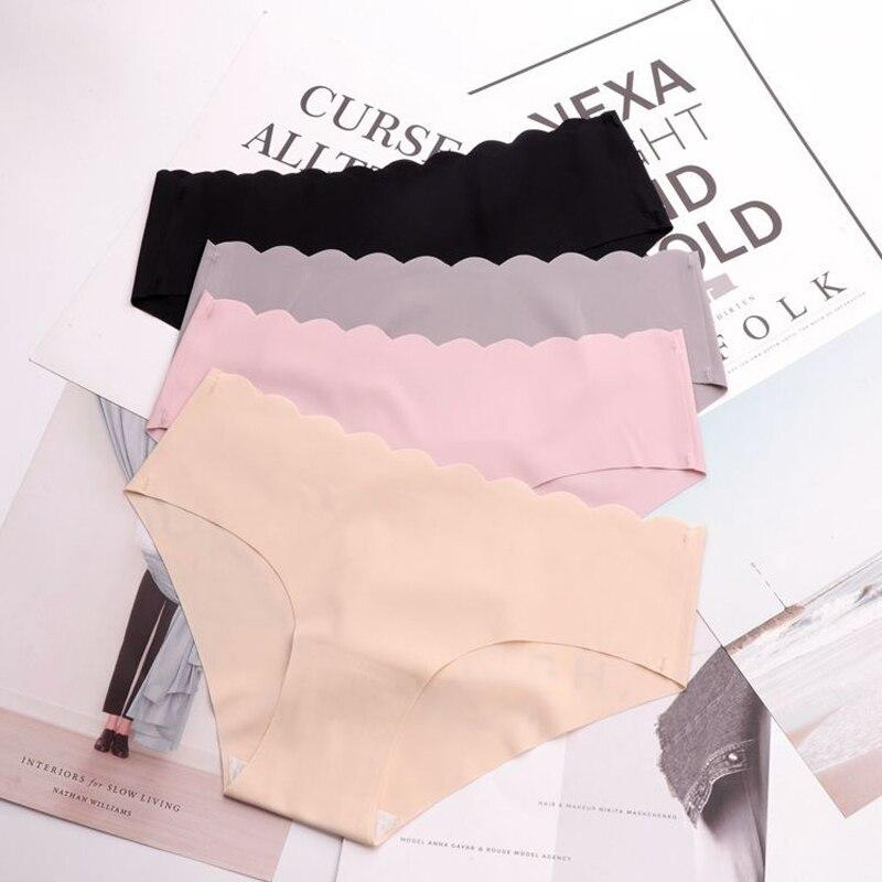 SP&CITY Classic Solid Ruffles Seamless Briefs Crotch Cotton Women Underwear Sexy Female Lingerie Summer Thin Soft Sex   Panties