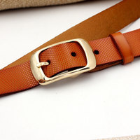 Belt ladies leather women's leather fashion pin buckle simple wild Korean version gg belt luxury fashion