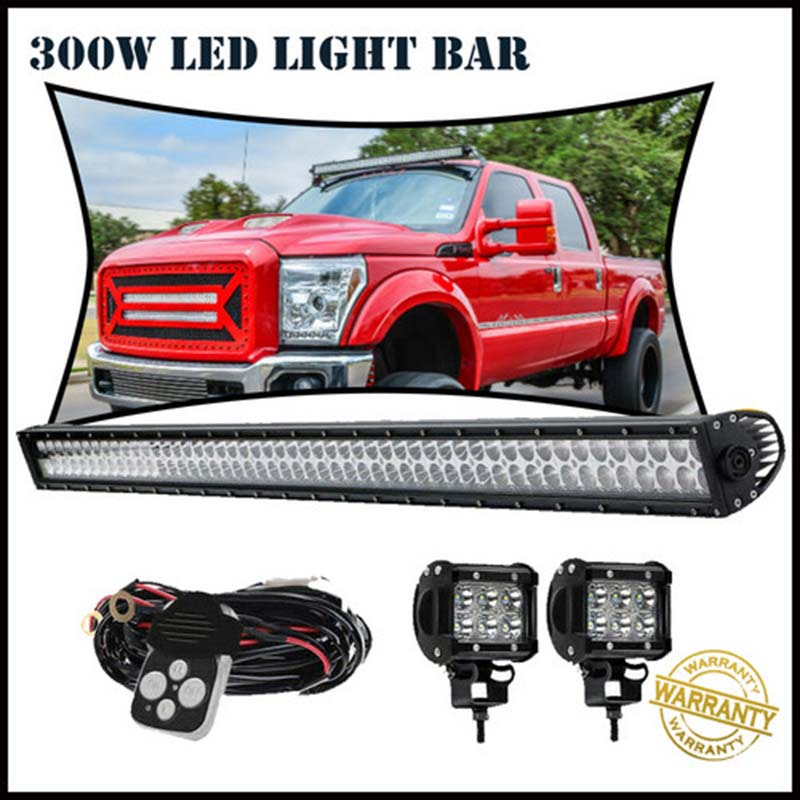 "50/"" 250W 3D LED WORK LIGHT BAR STRAIGHT COMBO SINGLE ROW OFFROAD 4WD TRUCK"