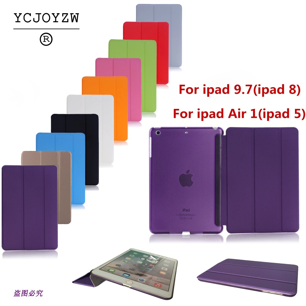 Case For Apple 2017 2018 New ipad 9.7 Air 1 Sleep wake-up magnet case-YCJOYZW Smart Case Ultra Slim Original 1: 1 Tablet Leather