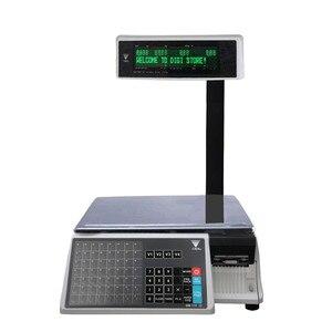 Digi sm100pcs mais preço da escala de impressão da etiqueta computação balança eletrônica sm110p + equilíbrio digital para varejistas de carne deli