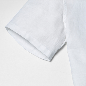 Image 4 - سيموود 2020 وصل حديثًا قمصان صيفية بأكمام قصيرة للرجال 100% لون أبيض كتان ملابس ضيقة مقاسات كبيرة CS1534