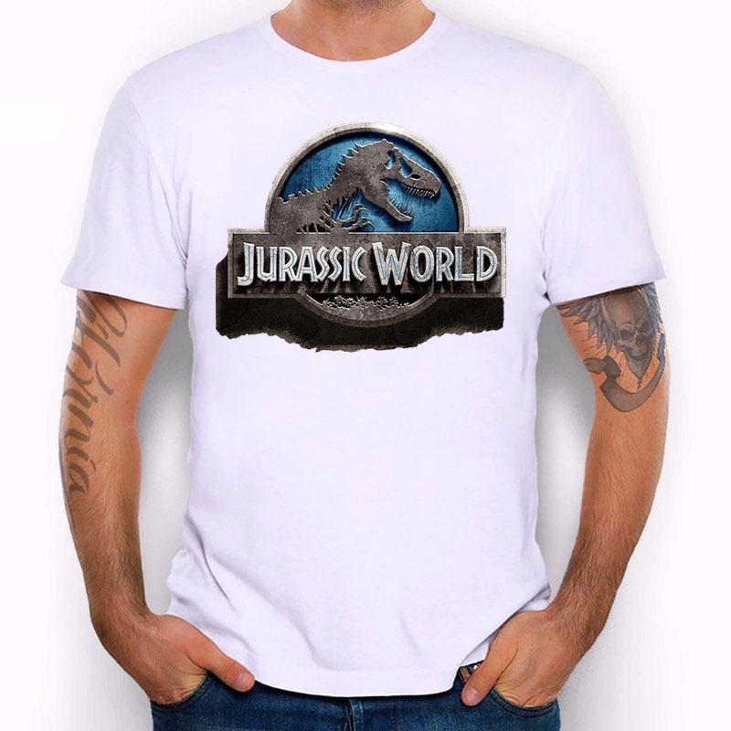 Jurassic World 2018 New 3d T Shirt Men Cool Print White Short Sleeve