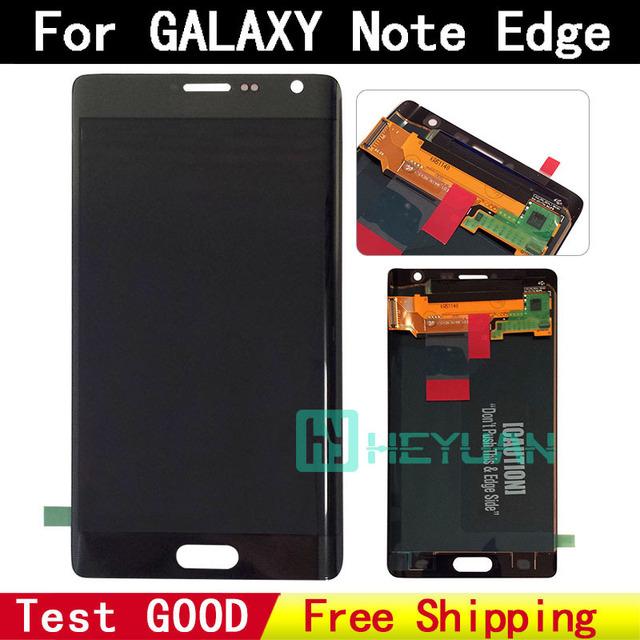Peças sobresselentes do telefone móvel por atacado para samsung galaxy note edge n915f n915a n915p display lcd de toque digitador da tela
