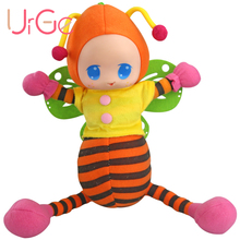 kawaii plush stuffed animal cartoon anime bee with wing baby appease dolls kids toys for children girls doll Christmas Gifts