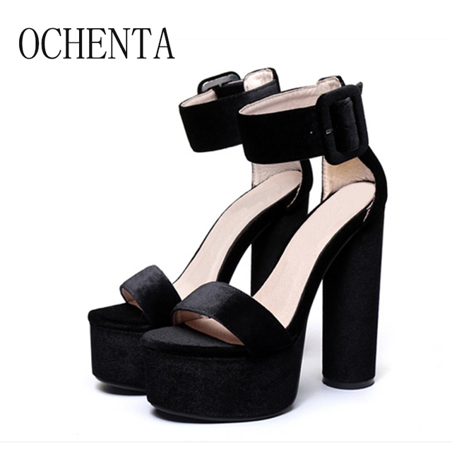 OCHENTWomen Sandals New Sexy High Heels Gladiator Sandals Women Ladies Fashion Contract Sweets Color Sexy Peep Toe Dance Sandals