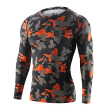 2 pieces lot Top Quality Men Compression T shirt Breathable Dry Fit Sport Camo Tees