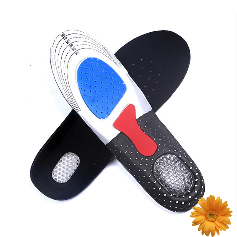 Camping Hiking Breathable Runner Shoe Pads Running Sports Free Size Latex Insoles Insert ...
