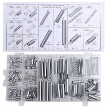 200PCS/set Flexible springs 20 Sizes Practical Metal Tension/Compresion Springs Assortment spring stack