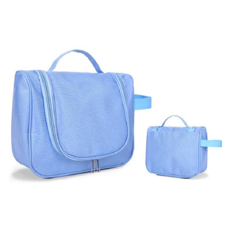 Custom Blue Polyester Travel Wash bag