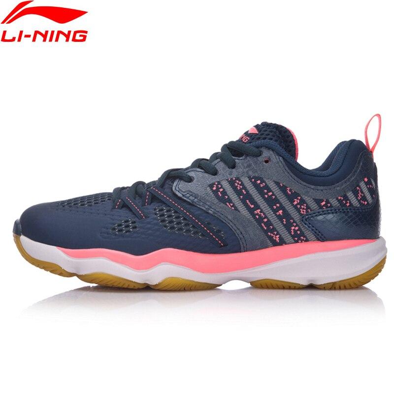 Li-Ning/женская повседневная обувь для бадминтона, Нескользящие кроссовки из ТПУ, спортивная обувь AYTM074 XYY062