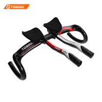 TOSEEK LK SIFEI Road Bike Carbon Handlebar With Handlebar Ends UD Gloss Red Black Green Blue
