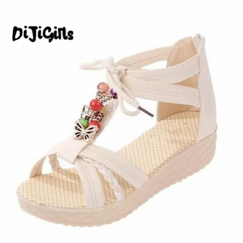 New Women Sandals Low Heel Wedges Summer Casual Single Shoes Woman Sandal Fashion Soft Sandals Free Shipping new 2018 shoes woman sandals wedges lovely jelly shoes solid casual slippers summer style fashion slides flats free shipping