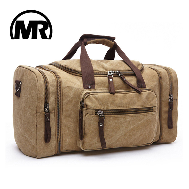 Markroyal Soft Canvas Men Travel Bags Carry On Luggage Duffel Bag Tote Large