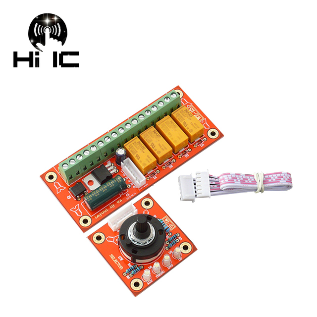 Audio Switch Input Selection Board Stereo Relay 4 way Audio Input Signal Selector Switching Amplifier DIY