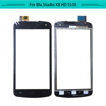 Tested 20pcs/lot For BLU studio x8 HD S530U Touch Screen Glass Digitizer Sensor Touch Screen Replacement with Free Shipping
