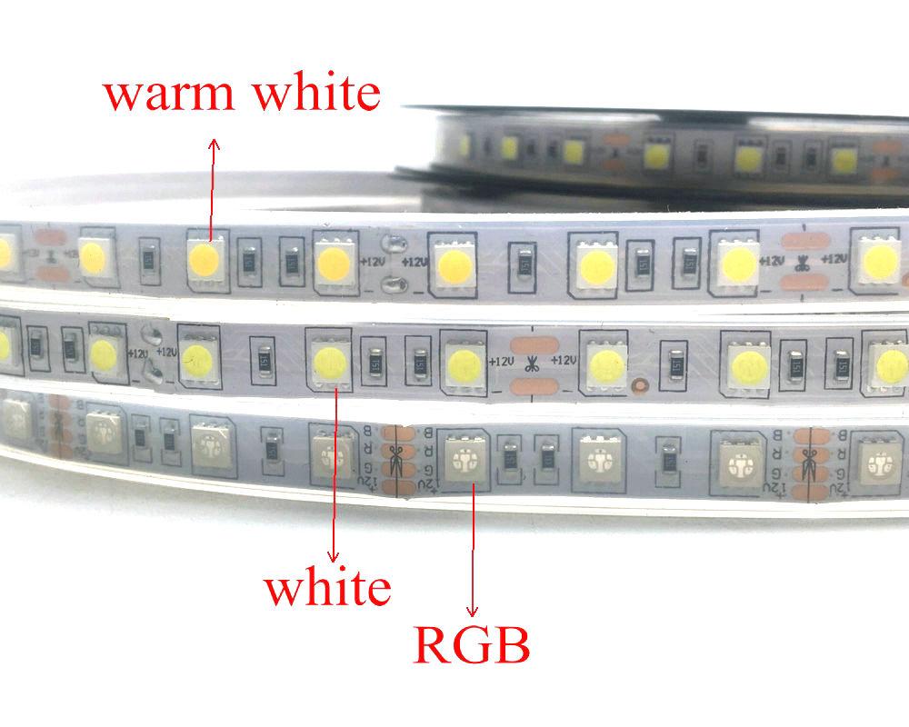 IP67 5050 LED csík DC12V 60 LED / M kiváló minőségű szilikon - LED Világítás - Fénykép 2