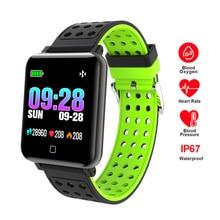 Купить с кэшбэком RAVI M19 Smart Watch 2018 Blood Pressure Blood Oxygen Heart Rate Monitor Fitness Tracker IP67 Smartwatch Connect Iphone Android