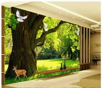 Custom High End Mural 3d Photo Wallpaper 3d Murals Wallpaper High Definition Modern Simple Forest Scenery