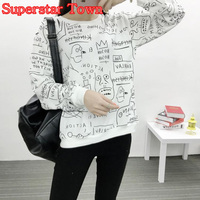 KPOP BTS Hoodies Bangtan Boys Clothes Long Sleeve Women Hoodies Korean Kim Tae Hyung Graffiti Sweatshirts