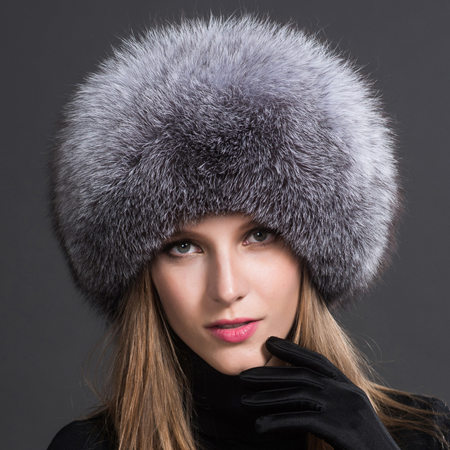 2016 Time-limited Promotion Solid Adult Women Winter Fur Hat Natural Fox Autumn And Female Bomber