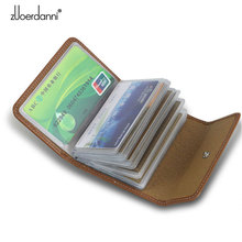 Zuoerdanni Mens and Womens 100% Genuine Leather Credit Card Holder with 20 Slots