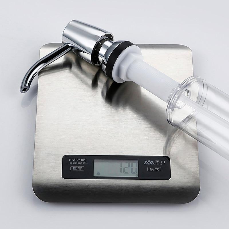 Купить с кэшбэком Smesiteli Kitchen Sink Soap Dispenser Chrome Plated ABS Bottle 320ML 360 Degrees Swivel For Kitchen Bathroom Liquid Soap Dispens
